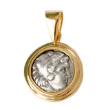 AR Drachm Alexander the Great and Zeus in 14k - Item #8484