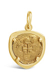Authentic Old World Spanish Gold Coin - 2 Escudos in a 18k Gold Frame-  Item #8634