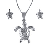 Sea Turtles - Necklace and Earring Set - FREE SHIPPING - #46571