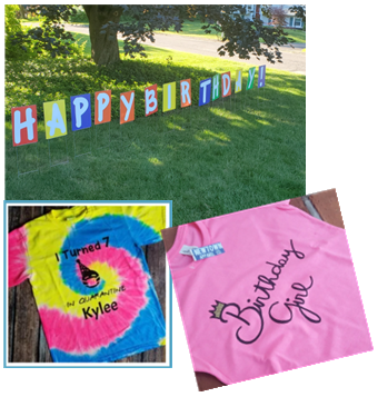 Birthday Shirts, Signs & More