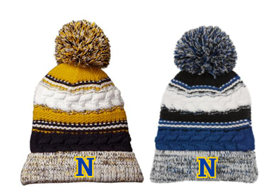 NHS Football Sport-Tek® Pom Pom Team Beanie