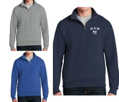 HOM 1/4 Zip Cadet Collar Sweatshirt