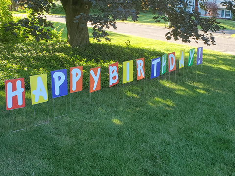 Birthday sign request