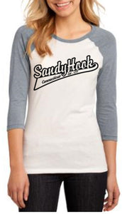 Sandy Hook Womens 3/4 Sleeve Stylish Raglan T-Shirt