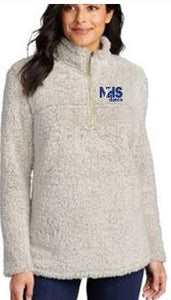 NHS Dance Ladies Cozy 1/4-Zip Sherpa