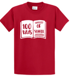 100 Days of School Book T-shirt (Cotton & Mositure Control) PC61/380