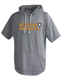 Newtown Baseball Short Sleeve Trainer Hoodie 8211