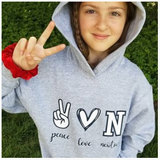 Peace, Love, Town Hooded Sweatshirt