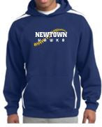 Newtown Softball Stripe Pullover Hooded Sweathsirt ST265/Y