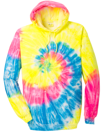 Neon Rainbow Youth & Adult Tie Dye Hoodie PC146Y