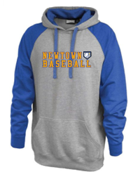 Newtown Baseball Vintage Grey Adult Hoodie 7246