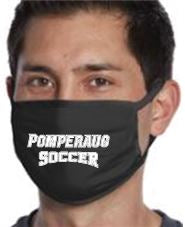 Pomperaug Soccer 3 Ply Fabric Face Mask-ADULT
