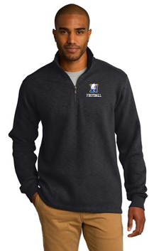 NHS Football Port Authority® Slub Fleece 1/4-Zip Pullover