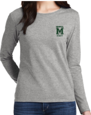 MMS Staff Womens/Mens Long Sleeve Cotton T-Shirt 5400/L