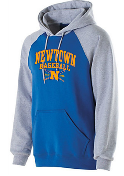 Newtown Baseball 2 Vintage Grey Adult Hoodie 7246