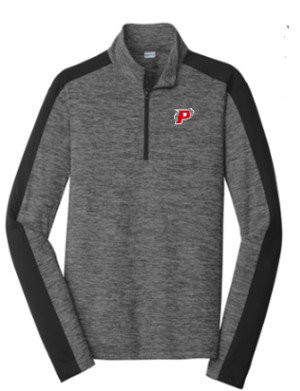 Pomperaug Soccer Electric Heather Colorblock 1/4-Zip Pullover ST397