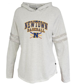 Newtown Baseball 2 Ladies Sparkle Stripe Hoodie 5323