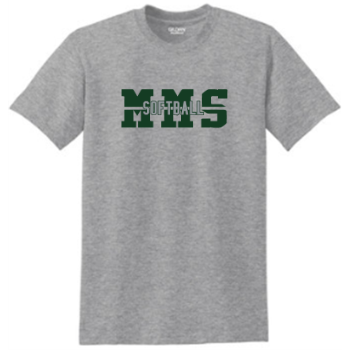 MMS Softball DryBlend 50 Cotton/50 Poly T-Shirt 8000