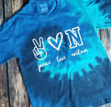 Peace Love CUSTOMIZED T-Shirt (Multiple colors)