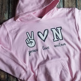 Peace, Love, Customized Hoodie