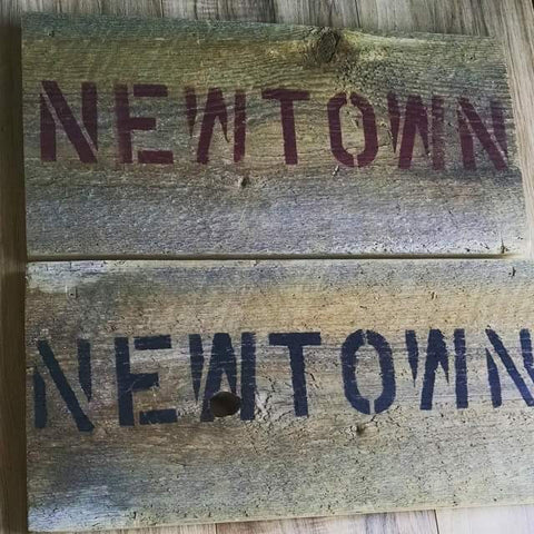 Hand Crafted Wood Barn Signs Newtown