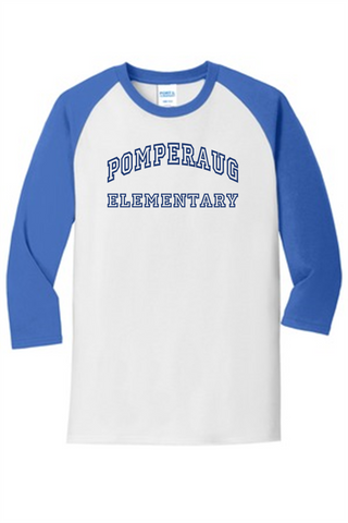 Pomperaug Elementary Baseball Style T-Shirt PC55RS