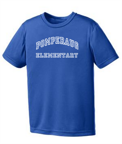 Pomperaug Elementary Performance T-Shirt PC380/Y