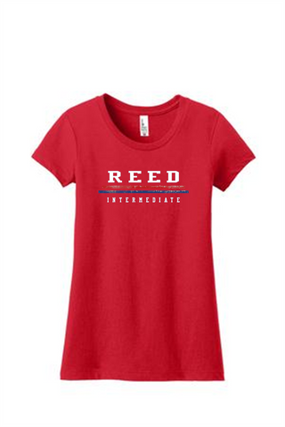 Reed Ladies/Girls Text T-Shirt 3710NL/DT6001