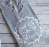 Thankful Grateful Blessed Long Sleeve T-shirt  5400