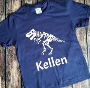 Birthday Dino T-Shirt (Multiple colors)
