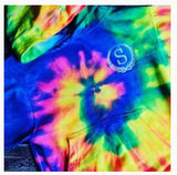 Custom EMBROIDERED Tie Dye Hooded Sweatshirt