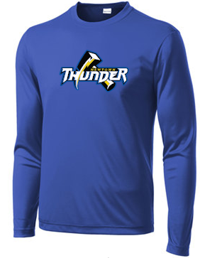 Thunder Baseball Moisture Wicking Long Sleeve T-shirt Y/ST350LS