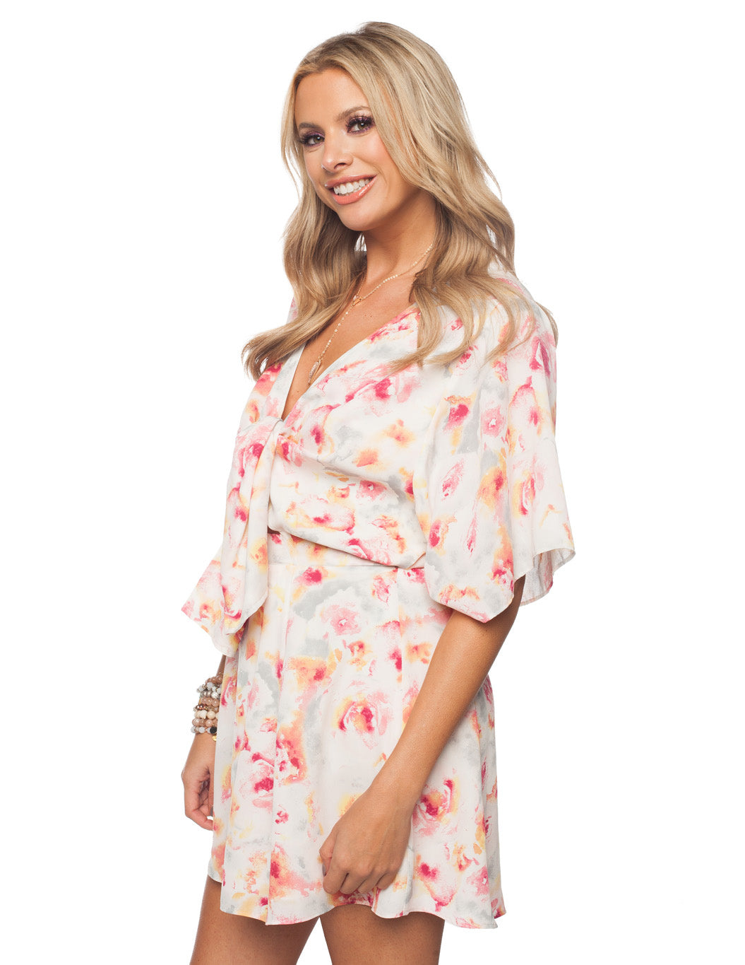 Connie Waterlilly Printed Dress