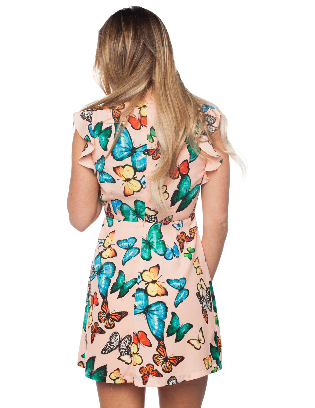 Twiggy Monarch Butterfly Printed Dress