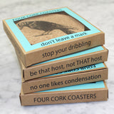 Crow Cork Coaster Set