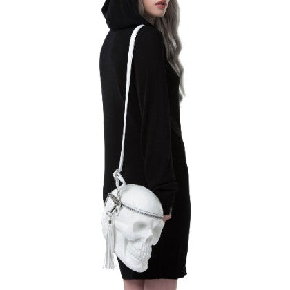 Bone White Skull Bag