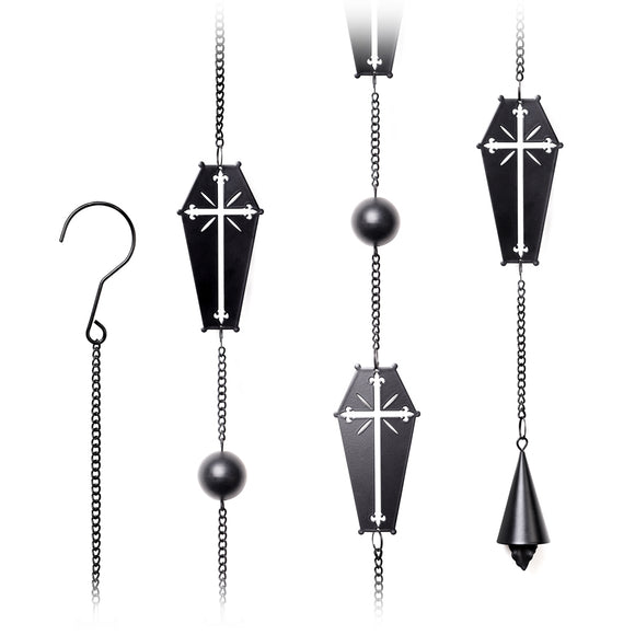 Coffin & Cross Hanging Charm