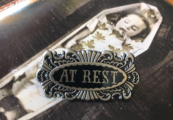 At Rest Enamel Pin