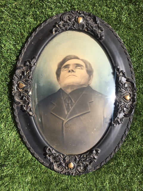 Post Mortem Framed Painted Photograph