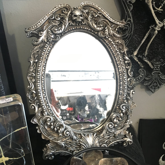 Ornate Skull Filigree Mirror
