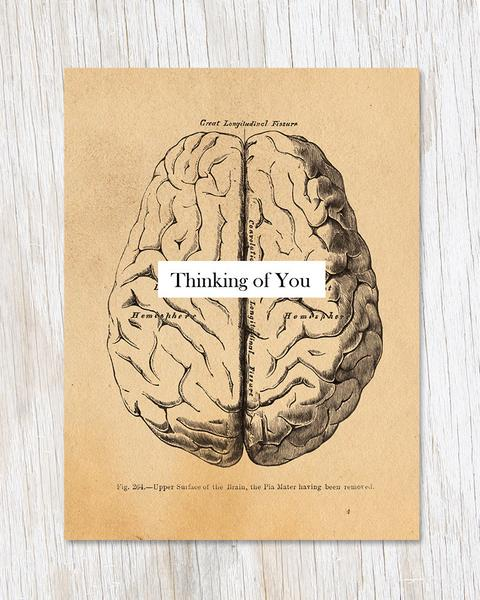 Thinking of You Brain Card