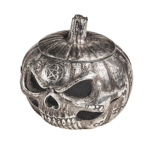 Pumpkin Skull Pot