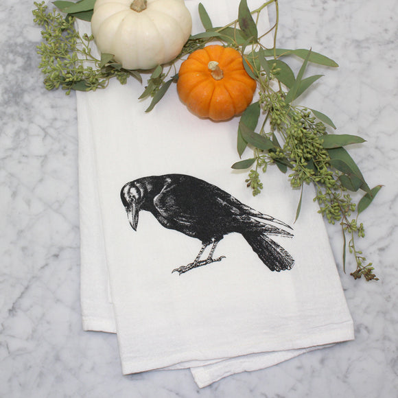 Crow Tea Towel