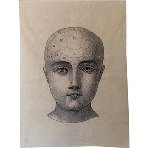Phrenology Head Tea Towel