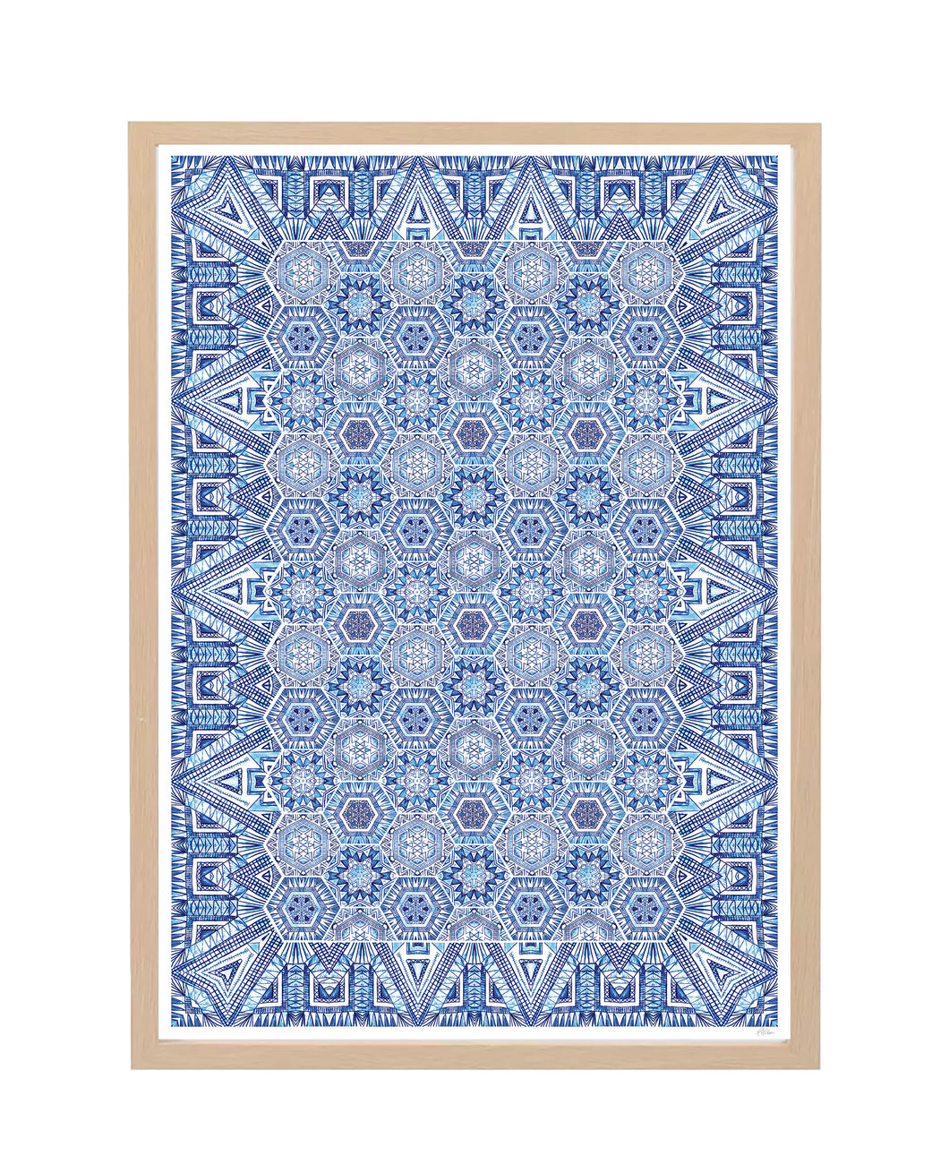 Magic Carpet Print - Blue