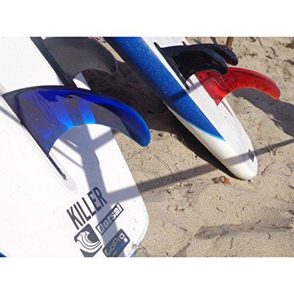 DORSAL Signature Surf SUP Single Center Fin Longboard Surfboard Fins - Blue