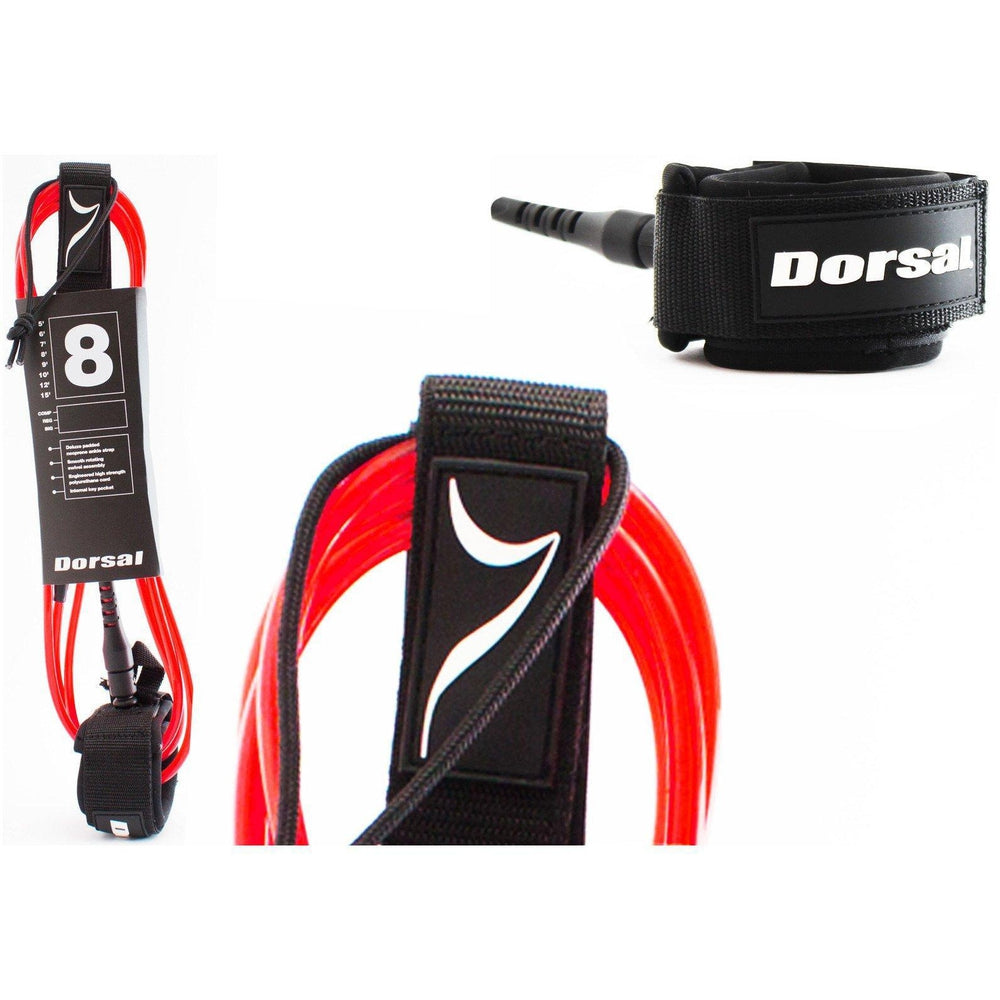 Dorsal Premium Surfboard 6 7 8 9 10 FT Surf Leash - Red - DORSAL?« Surf Shop - Dorsalfins.com?ÇÄ