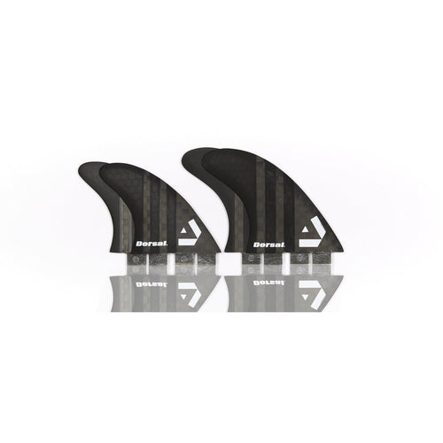 Dorsal Carbon Hexcore Quad Surfboard Fins (4) Honeycomb FCS Base Black - DORSAL® Surf Shop - Dorsalfins.com‎