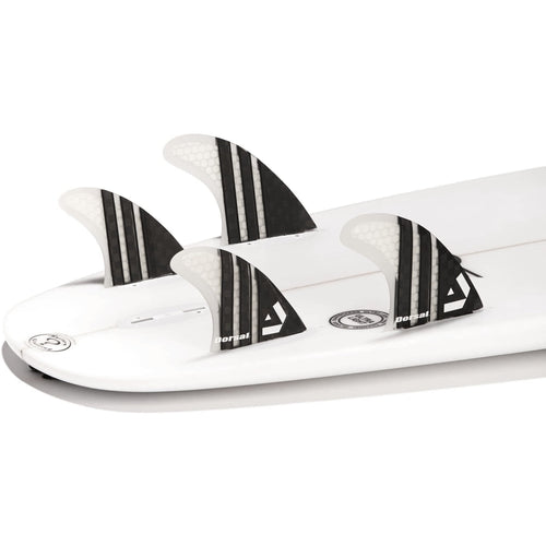 Dorsal Carbon Hexcore Quad Surfboard Fins (4) Honeycomb FCS Base Clear - DORSAL® Surf Shop - Dorsalfins.com‎