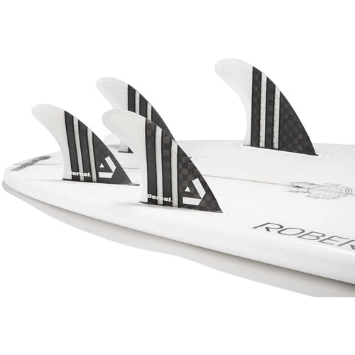 Dorsal Carbon Hexcore Quad Surfboard Fins (4) Honeycomb FUT Base Clear - DORSAL® Surf Shop - Dorsalfins.com‎